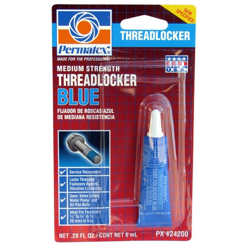 Blue Loctite threadlocker - help keep those bolts in place!