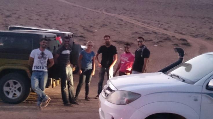 Hanging in the desert
