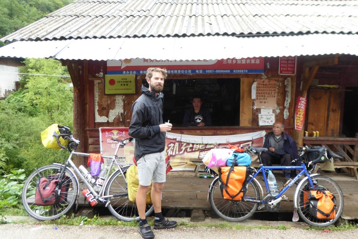 The first shop we found after 2 nights in a field