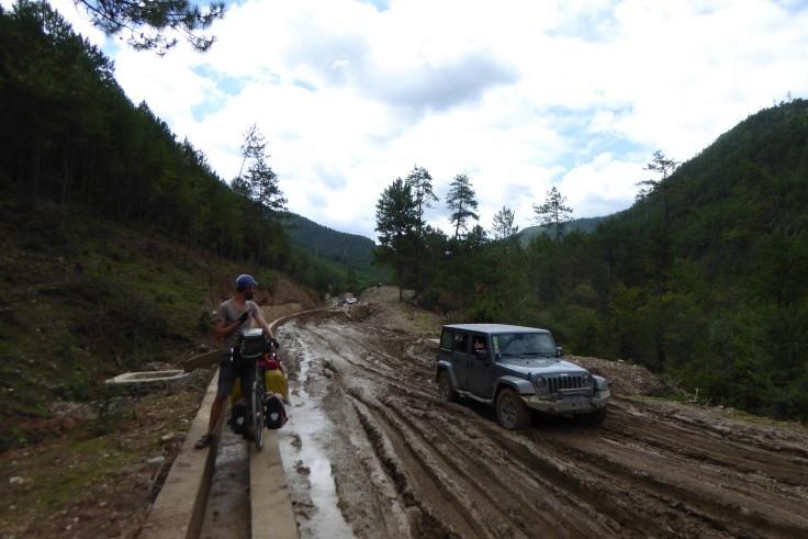 A muddy road