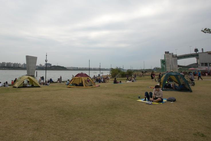 Everyone camping