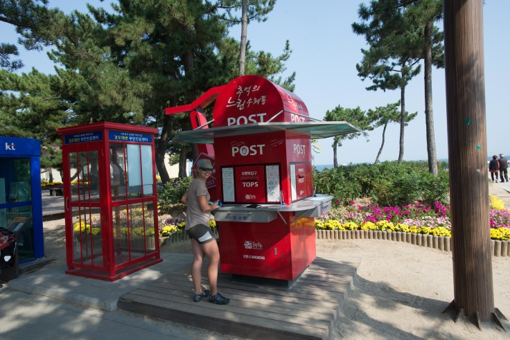 Bike passport booth and postbox